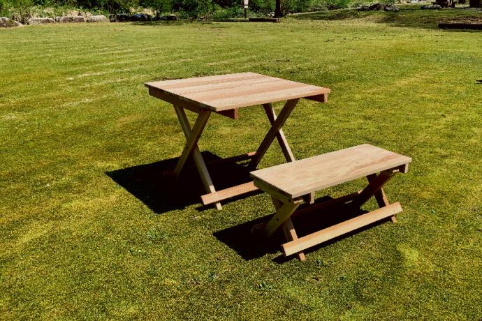 折り畳み デーブル×ベンチ